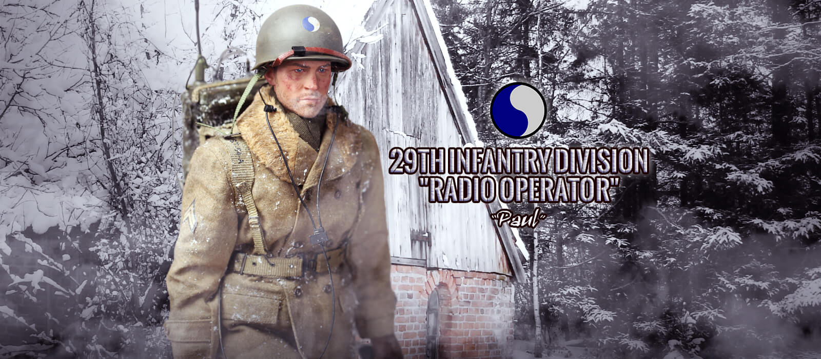 A80115S 29th Infantry Division Radio Operator Paul Christmas Version