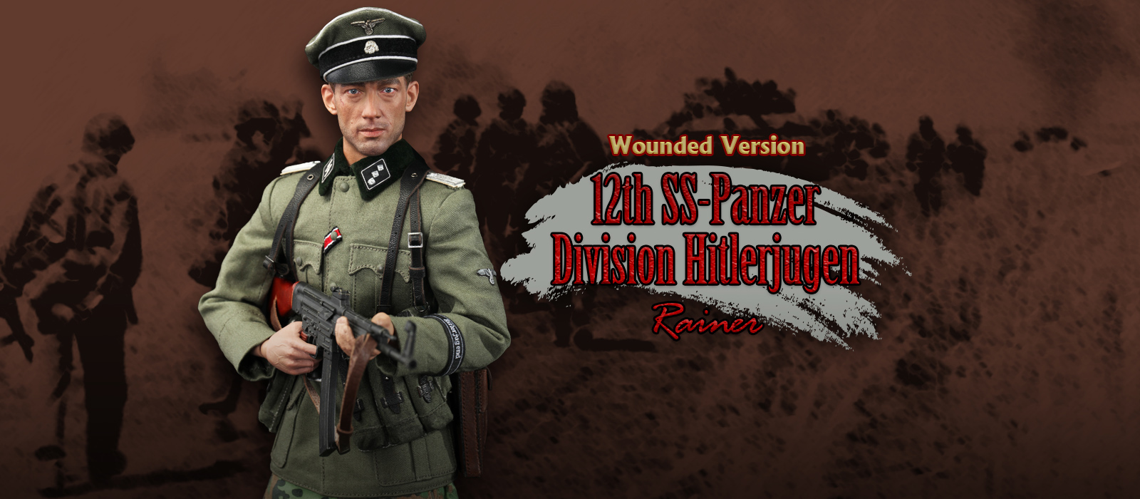 D80118S 12th SS Panzer Division Hitlerjugen Rainer Wounded Version