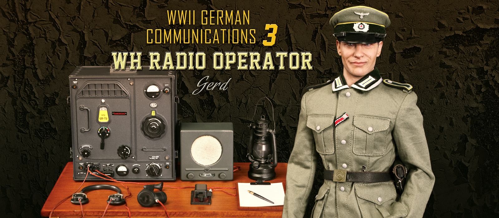 WWII German Communication 3 WH Radio Operator Gerd