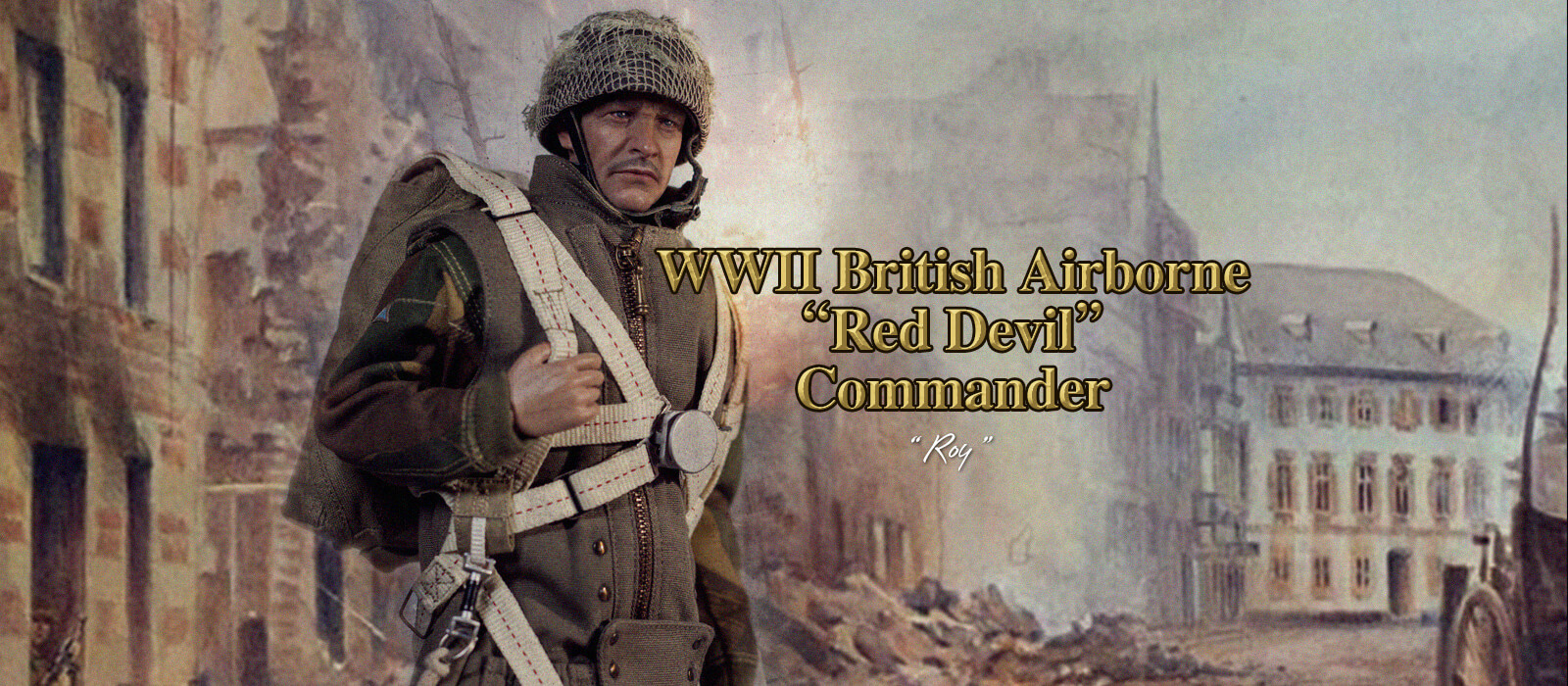 DID K80135 WWII British Airborne Red Devil Commander Roy banner