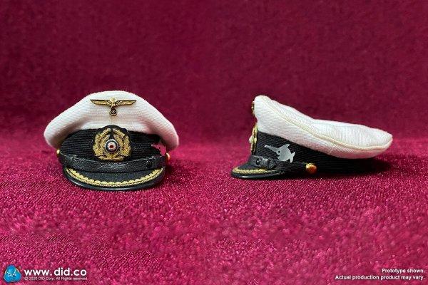 DID WWII German UBoat Commander Lehmann senior officer white visor cap