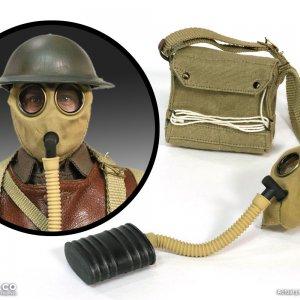 1/6 British small box respirator and bag