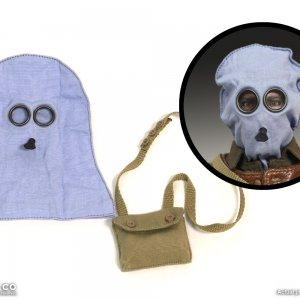 1/6 WWI British smoke PH hood/P helmet with carrying bag