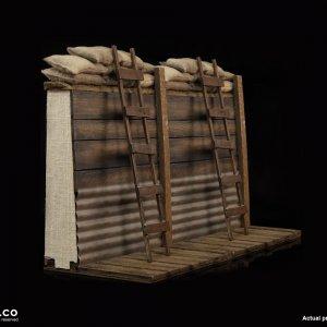 DID E60061 Trench Diorama Set