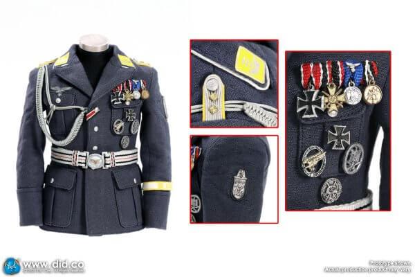 German Lufftwaffe blue-grey single-breasted uniform