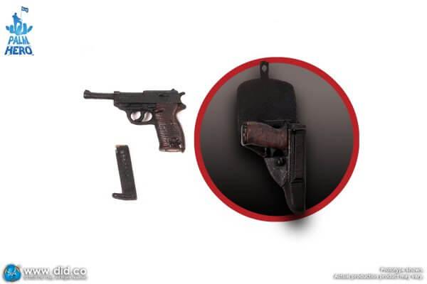 1:12 Michael Wittmann p38 pistol with holster
