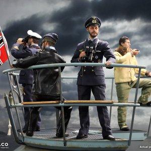 U-Boat Conning Tower Gun Deck diorama deluxe version