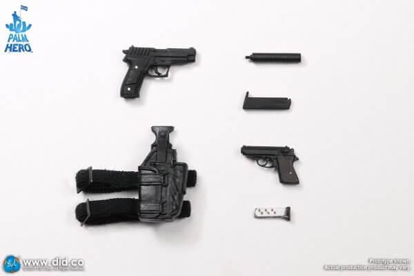 DID MI6 Agent Jack one twelfth scale XM80003 P226R pistol PPK pistol PA280 Holster