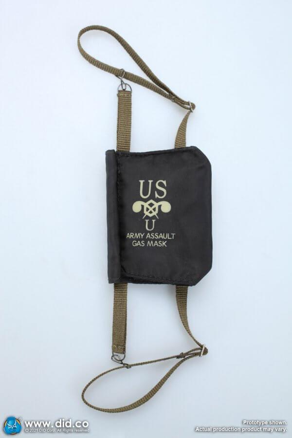 WWII US 2nd Ranger Battalion Sergeant Horvath M7 assault gas mask bag M7 assault gas mask bag