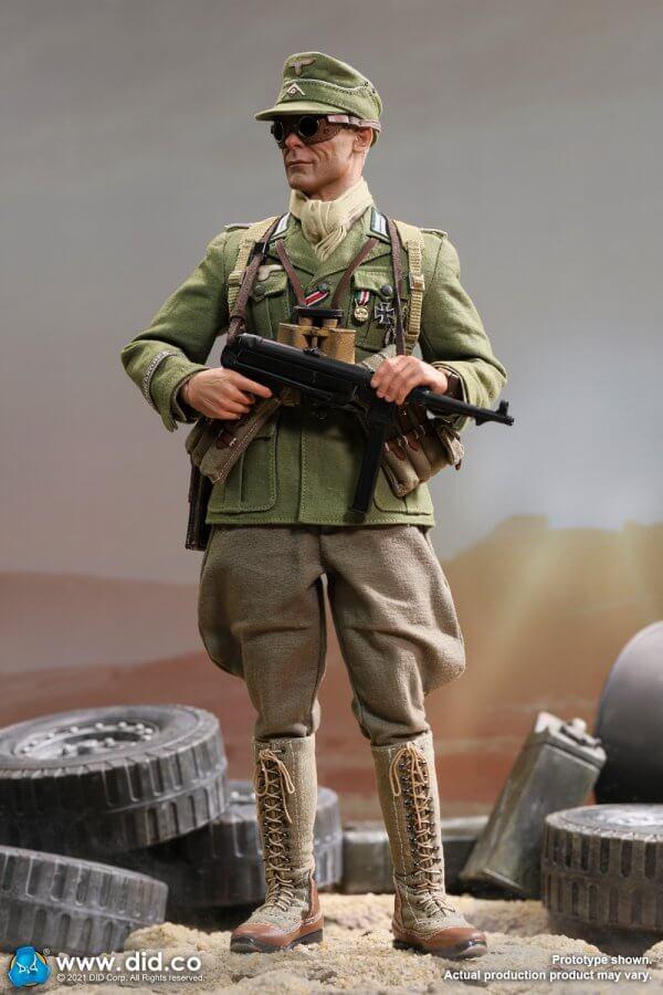 D80151 WW2 German Afrika Korps Infantry Captain Wilhem